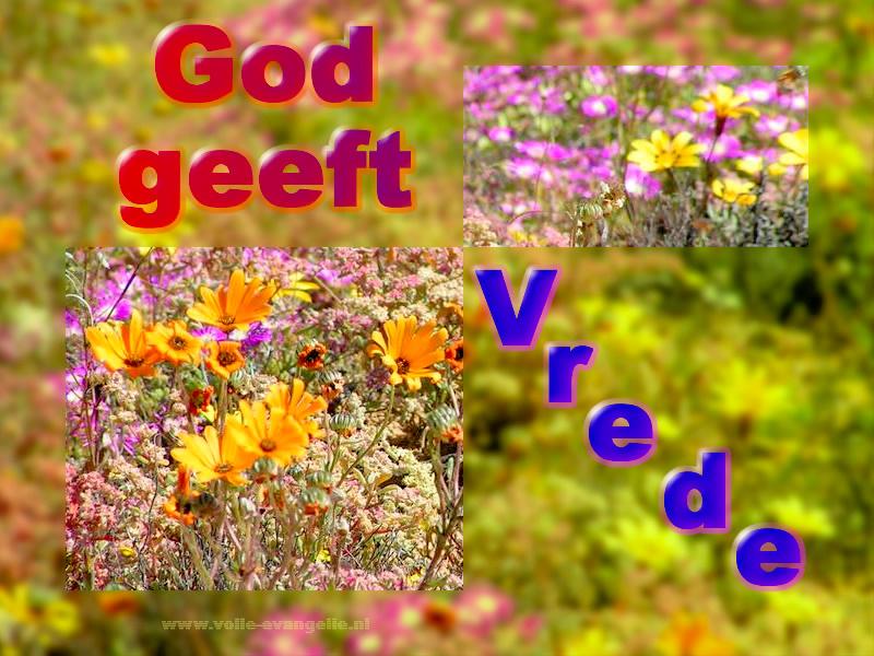 God geeft Vrede