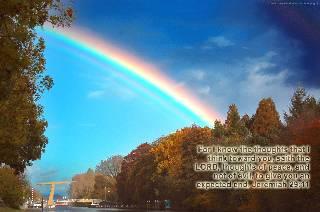 Supernumerary Rainbow Jeremiah 29:11 ecard