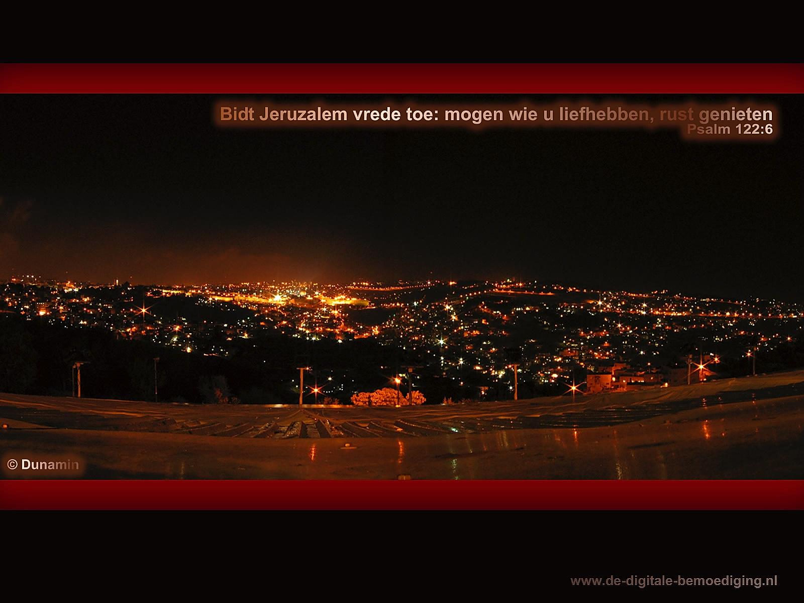 Jeruzalem bij nacht