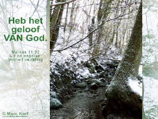 Heb het geloof VAN God