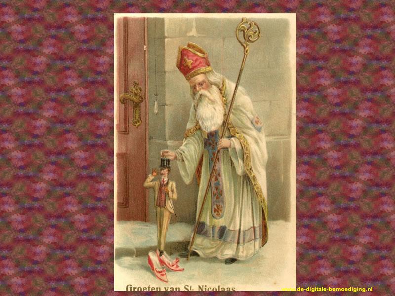 Groeten van een witte Sint Nicolaas