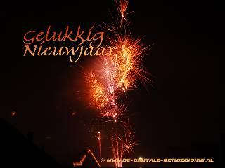 Gelukkig Nieuwjaar spetterend vuurwerk