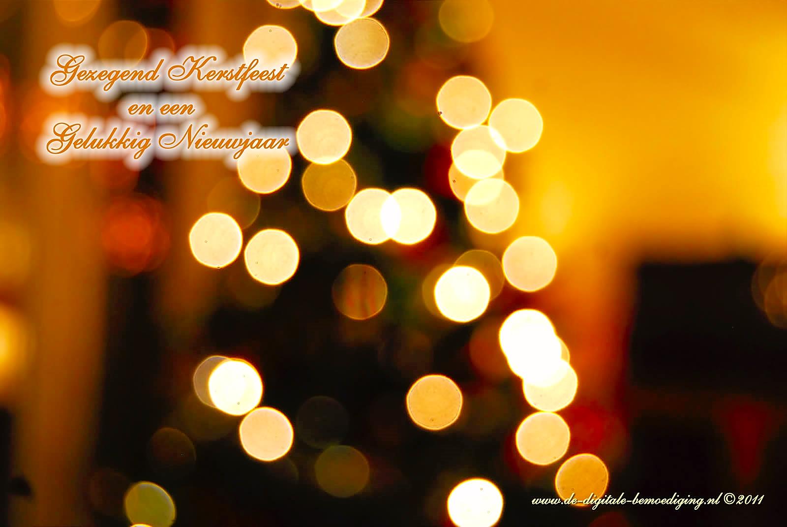Gezegende Kerstdagen en een Gelukkig Nieuwjaar