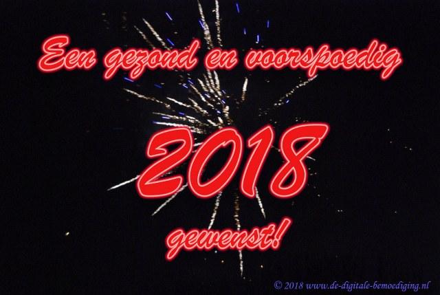 Een gezond en voorspoedig 2018 gewenst!