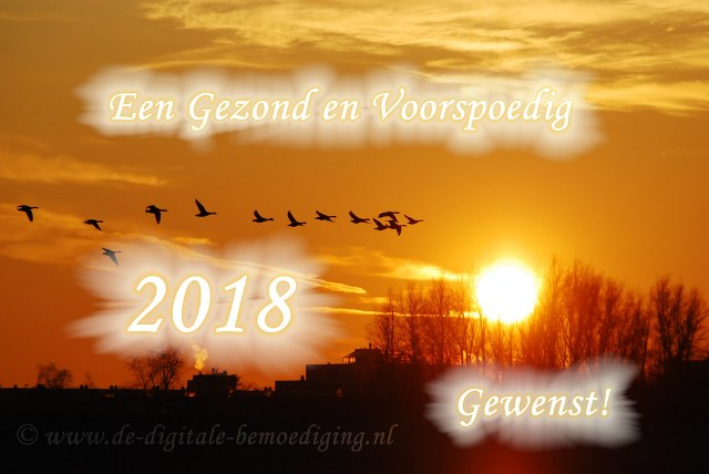 Een gezond en Voorspoedig 2018 gewenst