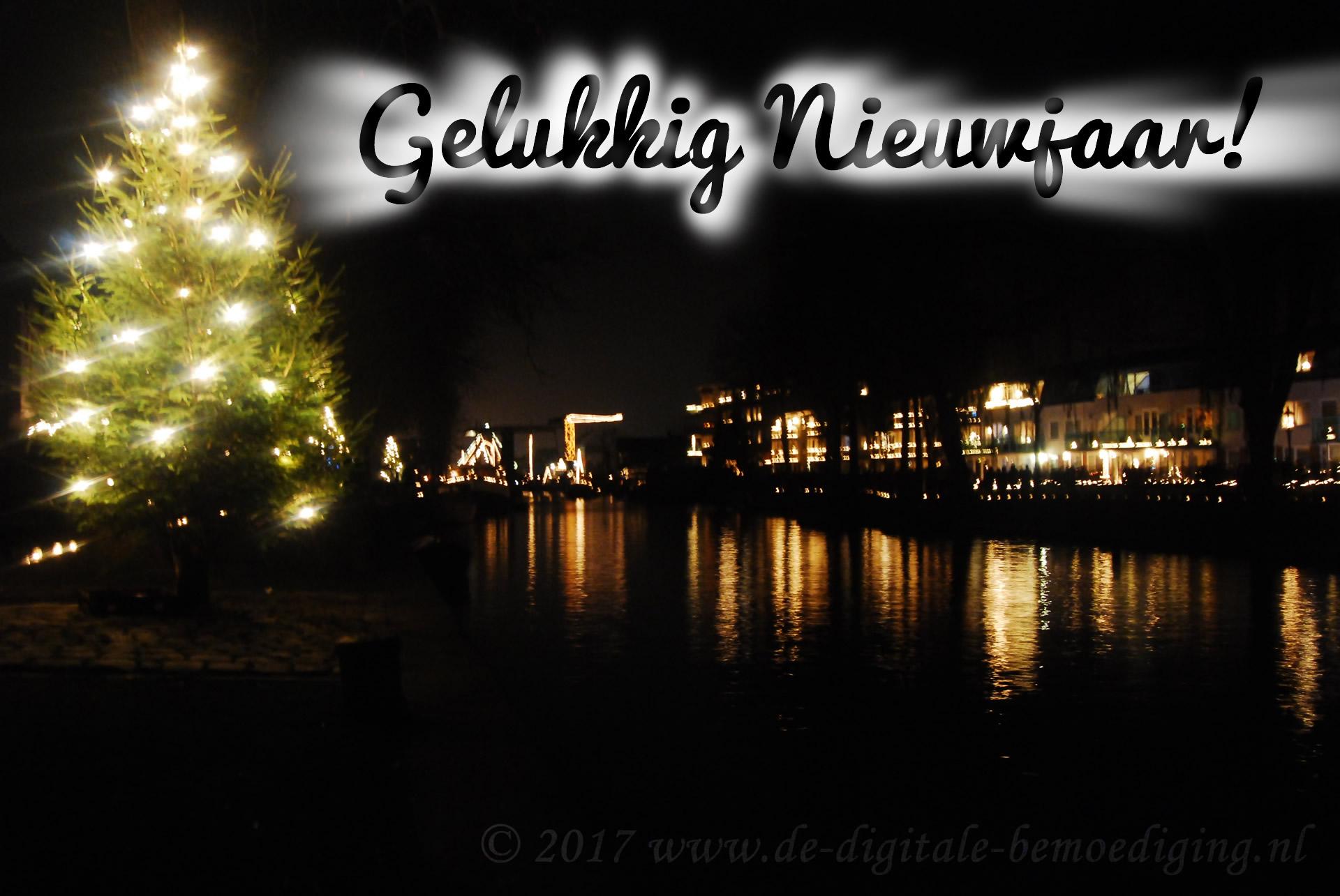 Gelukkig Nieuwjaar - kaarsjesavond Vreeswijk - kerstboom