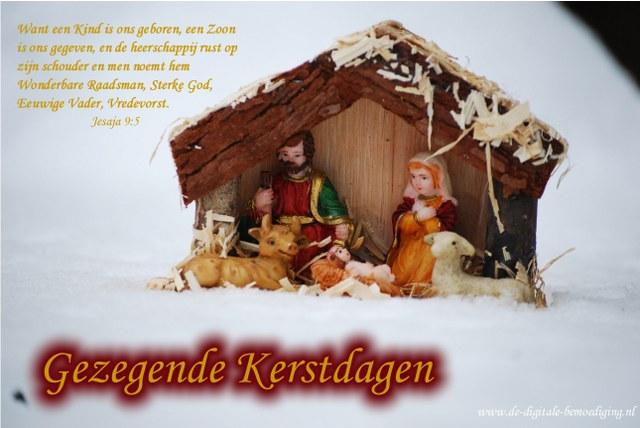 Want een Kind is ons geboren - Kerststalletje