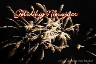 Gelukkig Nieuwjaar vuurwerk
