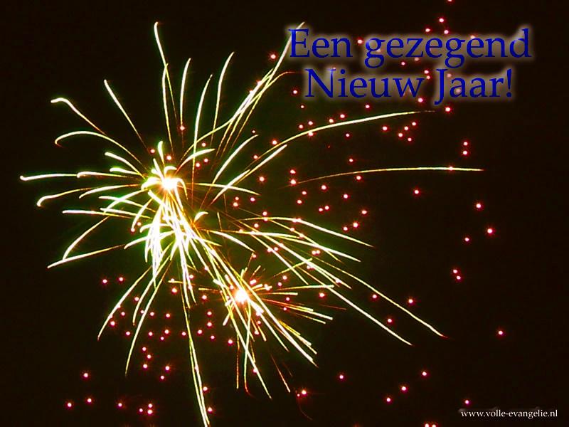 Een gezegend Nieuw Jaar! Groen vuurwerk
